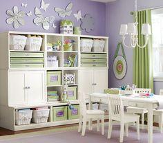 Cute organization idea for Addison's playroom!