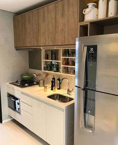 """10.3k Likes, 58 Comments - Home•Décor•arq•interior•dicas (@_homeidea) on Instagram: """"Uma cozinha compacta e linda para inspirar nossa manhã de sábado!  Amei! Projeto Claudia…"""""""