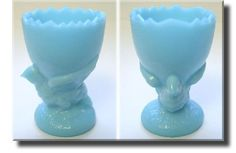 blue milk glass...I would love to have blue and white milk glass stuff