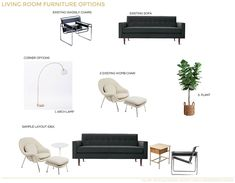 Hilary Sontag Living Room Redesign Furniture Options White and Wood 2 Narrow Living Room, Small Living Room Design, Living Room Tv, Interior Design Living Room, Living Room Designs, Front Room Furniture Ideas, Living Room Furniture Layout, Room Ideas, Interior Design Guide
