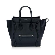 Rental Celine Mini Luggage Tote (4.754.750 IDR) ❤ liked on Polyvore featuring bags, handbags, tote bags, black, black tote, celine handbags, celine purse, miniature purse and mini purse