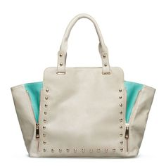 Beige and mint Beverly Glen bag from ShoeDazzle