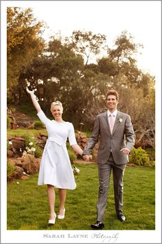 Mid-century Modern Wedding at Hidden Valley Retreat. Retro and chic!