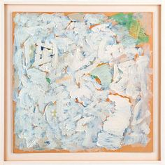 "Robert Ryman - ""Wedding Picture"", (""Throughout his career, Ryman has isolated the most basic components of painting and experimented with their variations. Robert Ryman, Abstract Drawings, Abstract Paintings, Abstract Art, Josef Albers, Bristol Board, Process Art, Op Art, Contemporary Paintings"