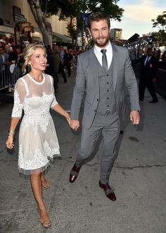 Elsa Pataky and Chris Hemsworth attend the premiere of Universal Pictures' 'The Huntsman- Winter's War'