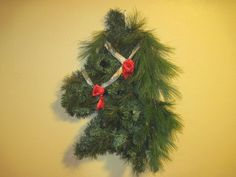 Horse Head Christmas Wreath