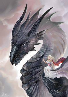 Daenerys and Drogon by Evolvana on deviantART