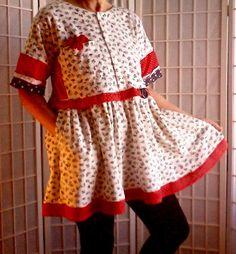 92 Feminine Large Mini Dress Lolita Jeans Top Women's by ArtzWear