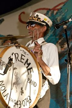 Uncle Lionel Batiste, one of the most beloved musical figures in New Orleans. New Orleans Music, New Orleans Voodoo, New Orleans Louisiana, Louisiana Usa, Louisiana History, French Quarter, New Orleans History, Louisiana Recipes, Tennessee Williams