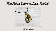 Faux Etched Dichroic Glass - Polymer Clay Tutorial