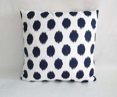 Decorative Pillows, Navy Blue and White Pillow Cover, Zippered Pillow case, Throw Pillow, Cushion cover, Blue Accent Pillow, All sizes.