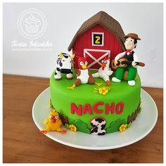 3rd Birthday Parties, Birthday Cake, Farm Animal Birthday, Farm Theme, Farm Animals, First Birthdays, Fondant, Party Supplies, Cake Ideas