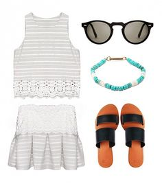 This flirty, matchy-matchy look will transition flawlessly from day to night. // #fashion #summer #style