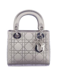 Silver Linnings: Christian Dior Grey Mini Lady Dior.