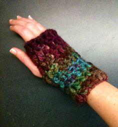 Crochet Fingerless Gloves Crochet Wrist Warmers Rainbow Gloves Crochet Gloves Thick Gloves Chunky Gloves Rainbow Wrist Warmers Warm Gloves