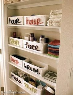 Keep clutter at bay with these smart small space storage tips for your bathroom. Save space in your small bathroom with these clever tricks that will make it fashionable and functional. Check out some of the best small bathroom storage ideas for Bathroom Organization, Bathroom Storage, Organized Bathroom, Organization Ideas, Bathroom Shelves, Organizing Tips, Bathroom Cabinets, Bathroom Baskets, Bathroom Mirrors