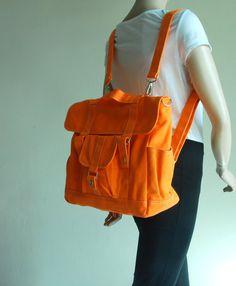 7c7b33d411a Christmas SALE - Pico2 Backpack - Orange, Satchel   Rucksack   Messenger  Bag  Diaper Bag  School Bag  Women  Bag For Her