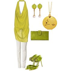 informal in green by arahmarina on Polyvore featuring polyvore fashion style Plein Sud Armani Jeans Manolo Blahnik Tusk
