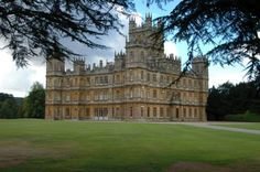 """Highclere Castle, Berkshire - """"Downton Abbey"""" - seat of the Earls of Carnarvon - Sir Charles Barry updated the castle in 1838 - park designed by """"Capability"""" Brown in 1774"""