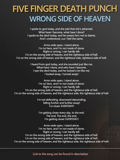 Five Finger Death Punch - Wrong Side of Heaven https://www.youtube.com/watch?v=o_l4Ab5FRwM