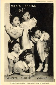 May Dionne Quintuplets were born near Callander, Ontario, Canada. Canadian People, I Am Canadian, Canadian History, Canadian Facts, Old Pictures, Old Photos, Vintage Photos, Children Pictures, Ontario