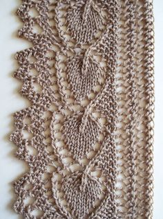 Resultado de imagem para different lace knitting stitches Lace Knitting Stitches, Lace Knitting Patterns, Knitting Charts, Lace Patterns, Free Knitting, Baby Knitting, Knit Edge, Crochet Lace, Filet Crochet