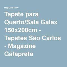Tapete para Quarto/Sala Galax 150x200cm - Tapetes São Carlos - Magazine Gatapreta