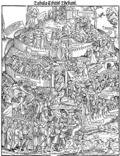 Erhard Schön (attributed), Tabula Cebetis Thebani. woodcut 1531, 38.5 × 30.2 cm