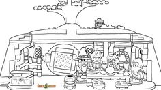 LEGO Hobbit Coloring Page, LEGO LEGO The Unexpected Gathering Printable Color Sheet