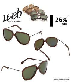 """Occhiali da sole unisex WEB EYEWEAR  -26% su occhialigraduati.com - """"Spedizione Gratuita""""  Per chi vive con i piedi per terra, il cielo resta il limite. #webeyewear #shopping #style #ss2014 #summer #fashion #glassesonline #glasses #occhiali"""
