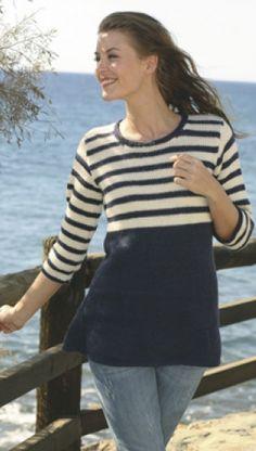 Strikket tunika med striber | Familie Journal