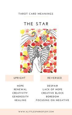 The Star Tarot Card Meaning: Love, Health, Money & Major Arcana Cards, Tarot Major Arcana, The Star Tarot Meaning, Tarot Astrology, Rider Waite Tarot, Hope Quotes, Friend Quotes, Quotes Quotes, Tarot Card Meanings