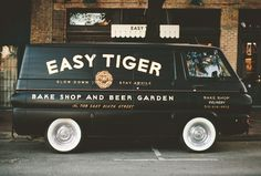 EASY TIGER BY WORK BY LAND #logo #branding #storefront Work by Land is the design studio of Caleb Owen Everitt and Ryan Rhodes.