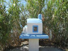 Shoreline Greek shrine In a beautiful setting on Katsadia beach on the tiny Greek island of Lipsi