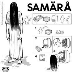 IKEA Instructions for Horror Fans by illustrator Ed Harrington.
