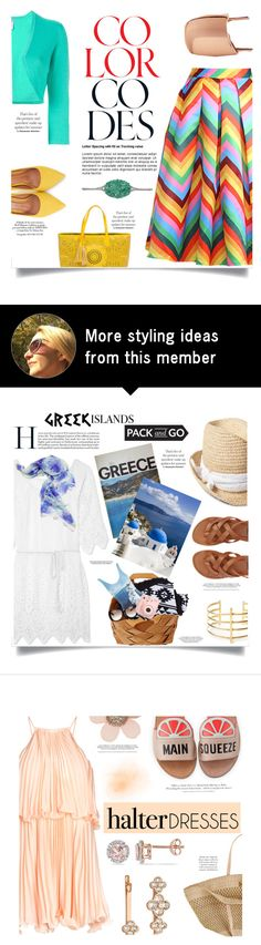 """""""Color codes! TFS 31/7"""" by chalsouv on Polyvore featuring BUCO, Relaxfeel, Oscar de la Renta, Moda In Pelle and Mara Hotung"""