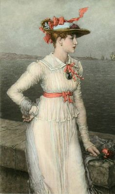 Forget Me Not - by George Henry Boughton.
