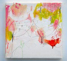 Koharu (2010) Oil on canvas, ink, pigment, pastel 180x180mm by mayakonakamura, via Flickr
