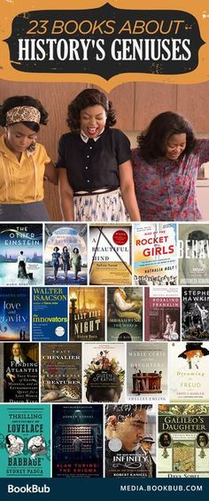 23 fascinating books about history's geniuses, including Hidden Figures by Margot Lee Shetterly and other great books for women.
