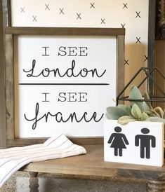Excited to share this item from my etsy shop: Funny bathroom sign I see London I see France kidsbathroom pottysign pottyhumor cottagebathroom powderroomdecor farmhousebathroom funnysign 131308145373504789 Bathroom Humor, Bathroom Wall Decor, Bathroom Ideas, Bathroom Signs Funny, Bathroom Organization, Bathroom Cabinets, Bathroom Designs, Bathroom Storage, Bathroom Interior