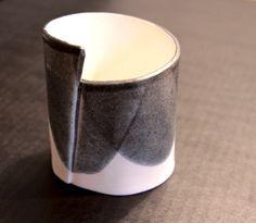 Manuela Gandini Bangle: MACCHIE 2010 white and black porcelain