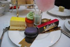 Assorted cakes, chocolates and macarons @ Chesterfield Hotel