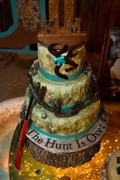 """""""the hunt is over"""". this would make a great groom's cake!"""