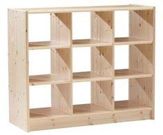 Oferta Mueble Biblioteca Cubo Con Estantes Minimalista - $ 650,00 en MercadoLibre