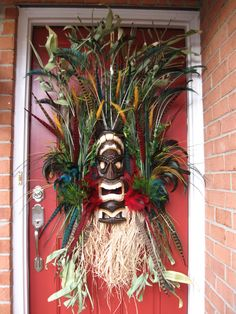 Tiki Voodoo Island Custom Wreath, by IrishGirl'sWreaths, $185- SOLD!