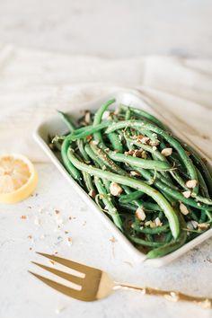 blistered green beans recipe via LaurenConrad.com