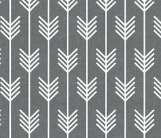 arrows_gray fabric by holli_zollinger for sale on Spoonflower - custom fabric, wallpaper and wall decals