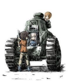 Girls und Panzer,Anime,Аниме,Miho Nishizumi,Maho Nishizumi,Erika Itsumi,gaditava
