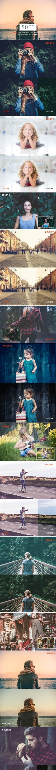 Buy 20 Soft Color Lightroom Preset by fokkira on GraphicRiver. Lightroom 3, Professional Lightroom Presets, Photoshop Actions, Any Images, Best Wordpress Themes, Soft Colors, Professional Photographer, Background Images, 8th Of March