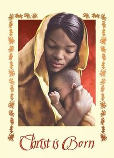 Wide selection Christmas cards with African American images and themes Christmas Greetings Christian, Christian Christmas, Black Christmas, Christmas Images, Christmas Art, African Christmas, Vintage Christmas, Catholic Art, Religious Art